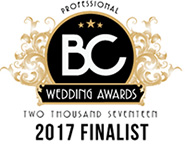 BC Professional Wedding Awards 2017 Finalist