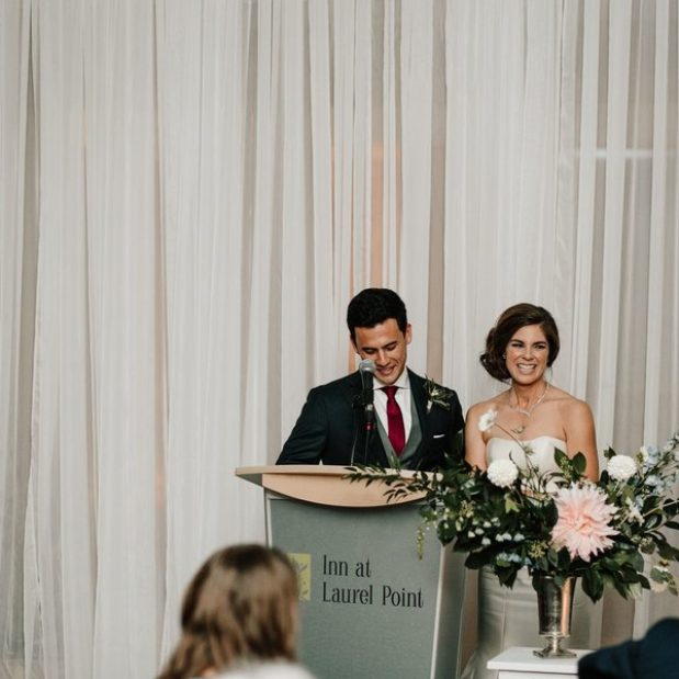 Speech from bride and groom