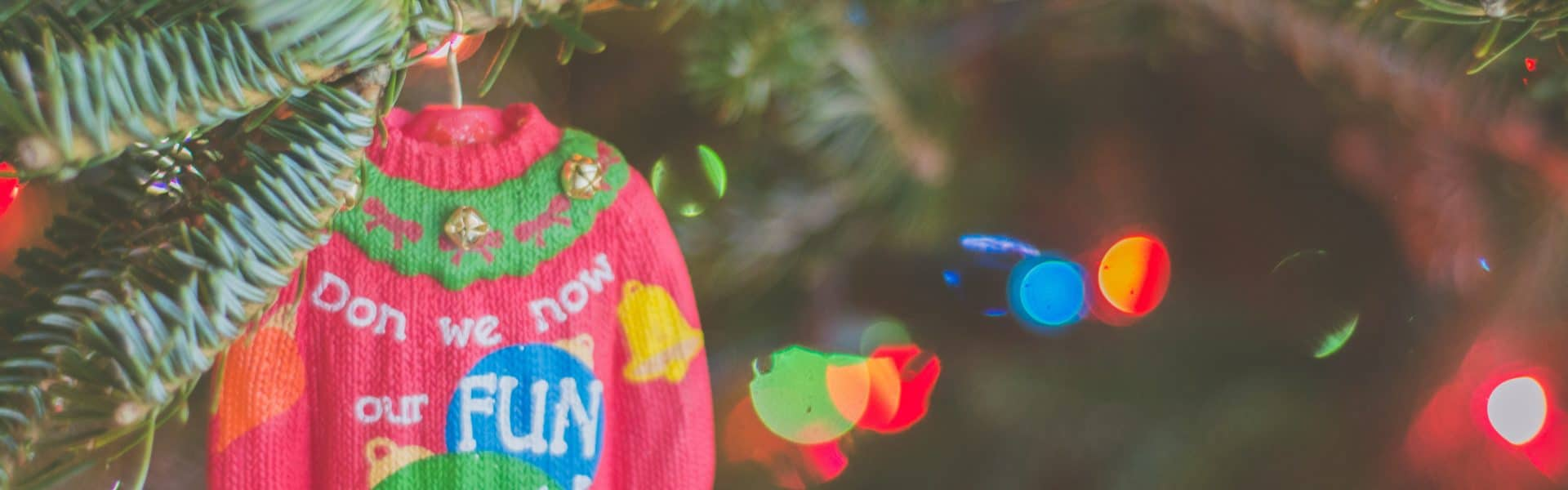 Christmas sweater ornament image for Inn at Laurel Point Celebrate the Holidays Package