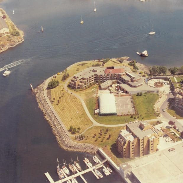 Laurel Point Inn Aerial
