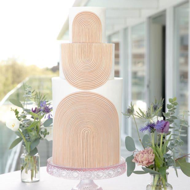 Art Deco Inspired Wedding Cake Inn at Laurel Point
