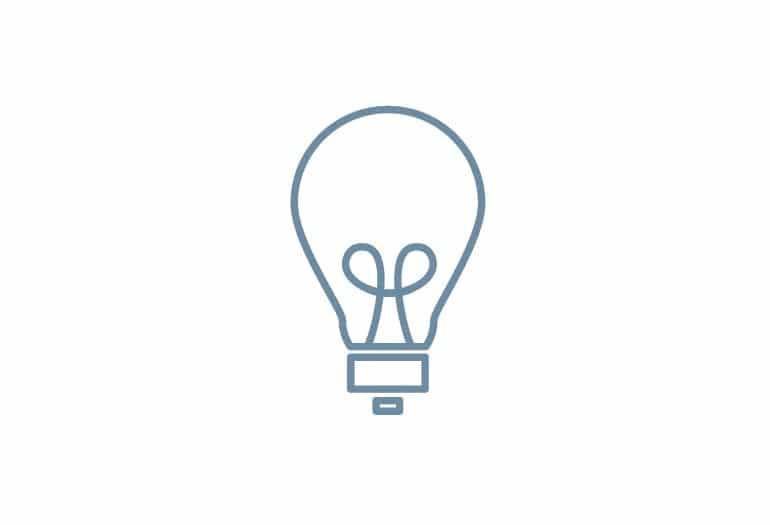 Blue lighbulg icon outline Inn at Laurel Point Energy Efficiency